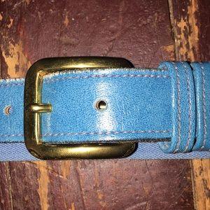 Lacoste Accessories - Size 34 Lacoste belt blue 1985